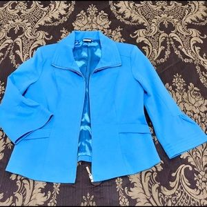 Ladies Georgiou Studio Boutique Blue Teal Blazer S